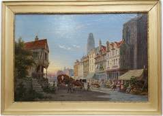 Pieter Cornelis Dommersen Rouen France Oil Painting
