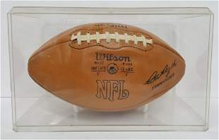 Green Bay Packers Lombardi Autographed Football 1960s