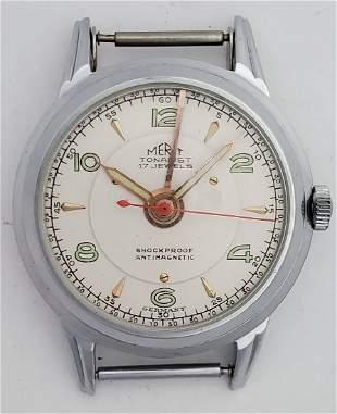 German Made Hanhart Merit Tonarist Bezel Alarm Watch