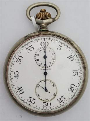 US Navy WWI Longines Stopwatch Chronograph