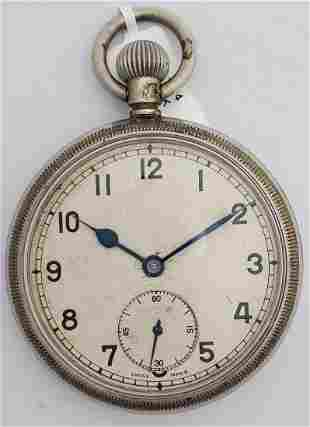 Antique Running WWI Air Ministry Pocket Watch