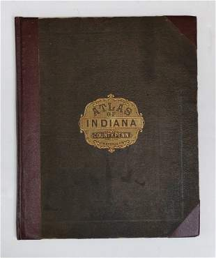 Atlas Of Indiana County PA County History w Prov