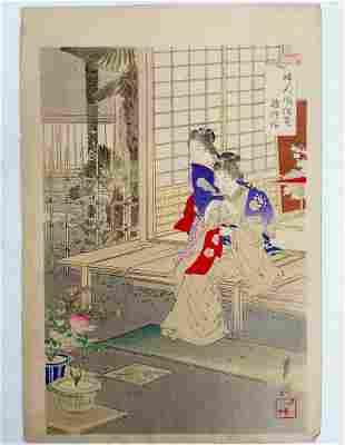 Ogata Gekko Meiji Period Japanese Woodblock Print Ukiyo