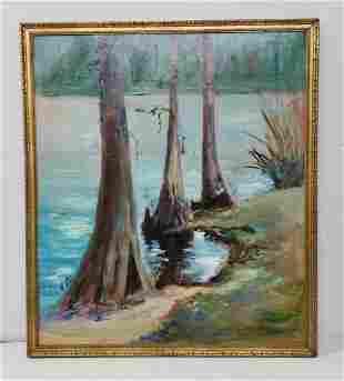 Aretta Crowley FL Artist 3 of 10 Cypress Painting