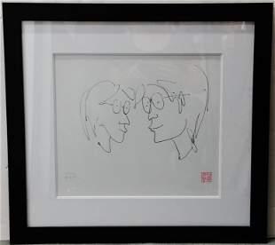 John Lennon Yoko Ono Signed Lithograph
