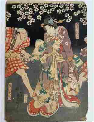 Ukiyo-e Japanese Woodblock Print Utagawa Kunisada 1850s