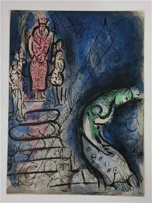 Marc Chagall Ahaseurus Banishes Vashti Unmounted Litho