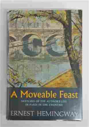 Ernest Hemingway A Moveable Feast 1st ed Novel HC DJ