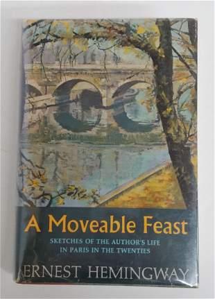 A Moveable Feast Ernest Hemingway 1st ed Novel HC DJ
