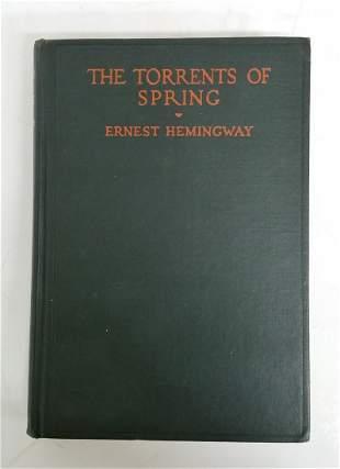 Ernest Hemingway Torrents Of Spring 1st ed Novel HC DJ