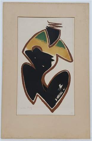 Man Ray Pencil Signed Color Lithograph