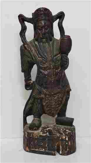 Large Signed Antique Chinese Immortal Statue