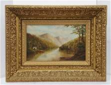 Martha Root Oil Canvas Given To Helen DeWaele Landscape