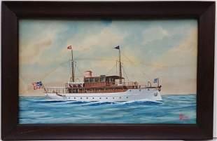 Orig Joe Selby Dupont Yacht Painting