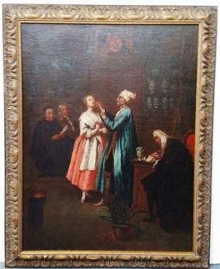 Ex Sothebys After Longhi Dentist Painting