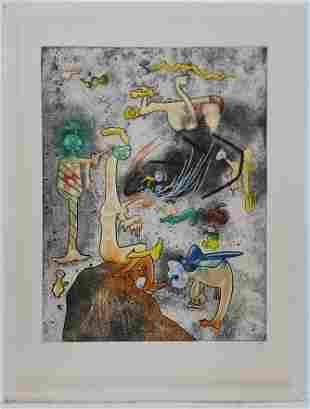 Roberto Matta Abstract Surreal Etching Aquatint ed100