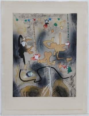 Roberto Matta Aquatint Etching Abstract Surreal ed100