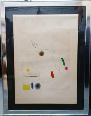Joan Miro 1972 Maeght Etching and Aquatint ed50