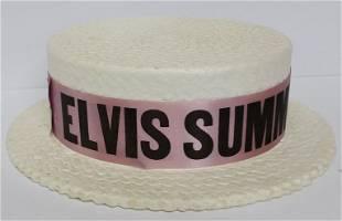 Elvis Presley 1970 Summer Festival Styrofoam Boater Hat