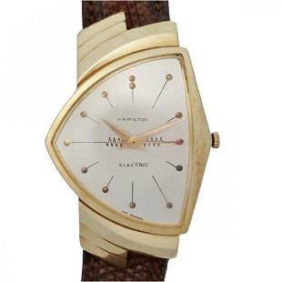 14k Gold Hamilton Ventura Electric Orig Dial Watch