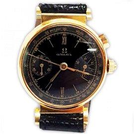 ULTRA RARE Vintage 18k Gold Omega Chronograph Watch