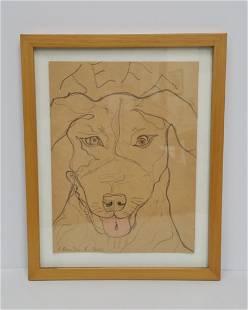 Original Richmond Burton Artist Dog Jeff Portrait