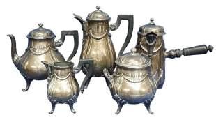 Henin Sterling Silver 117.25ozt Coffee Tea Chocolate