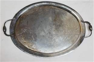 Sterling Silver Gonzalo Moreno Modernist Tray 92.46ozt