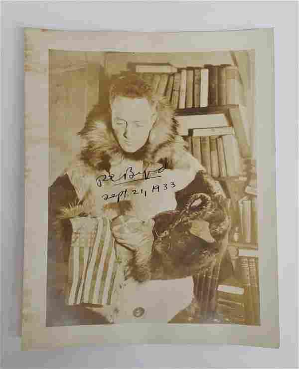 Admiral Richard E Byrd Autographed Photo South Pole