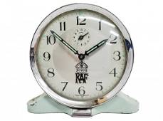 Vintage British Royal Air Force RAF Green Alarm Clock