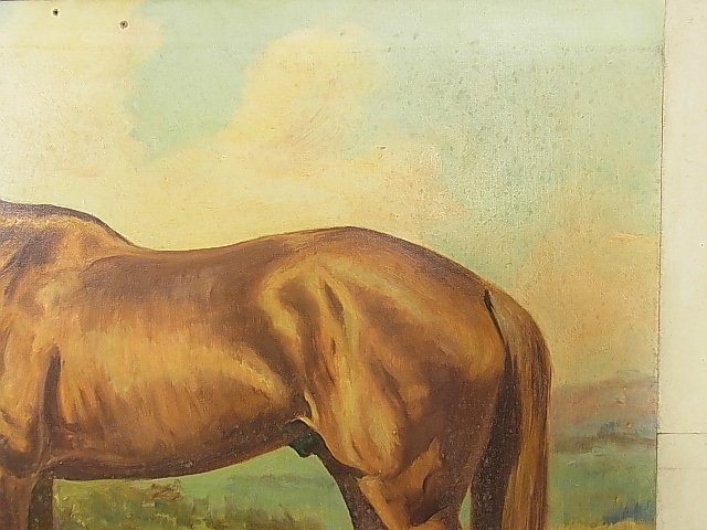 Ole Larsen Equestrian Horse WHIRLAWAY 1941 Painting CNX - 6