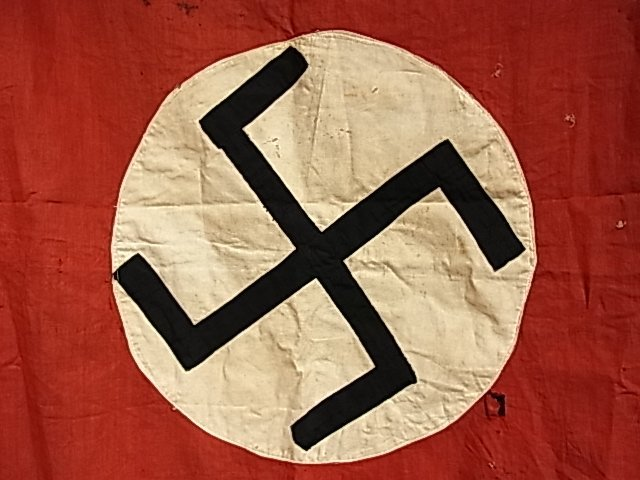 209: Vintage German WWII Military Nazi Flag Banner From - 6