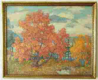 2: Mary Louise Fairchild Low ANA Lg Autumn Impressionis