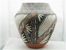 49: Large ACOMA Pottery Olla Vase Ophelia S. Leon CNX