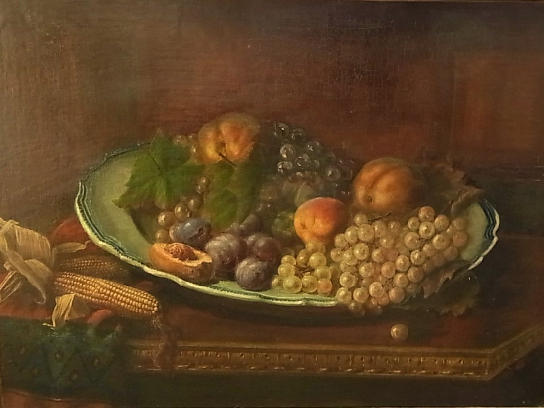 22: Superb 19C Still Life Signed CB ? Monogram American