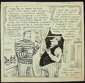 4: Ahern, Gene large comic strip Major Hoople 1936