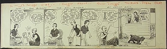 12: Beck, Hemingsly Frank, Gas Buggies comic strip, 193