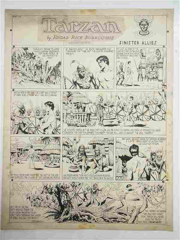 Hogarth, Burne Tarzan, Sunday comic strip, NY, Sini