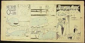 21: Carter, Ad Nicodemus O'Malley, 6 panel comic strip,