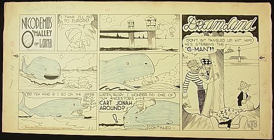 21: Carter, Ad Nicodemus O'Malley, 6 panel comic strip,