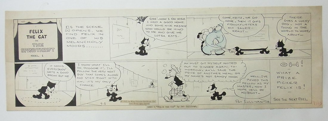 35: Pat Sullivan Felix the Cat comic strip, 1927, Exhib