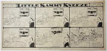 60: Winsor McCay Little Sammy Sneeze 6 panel comic stri