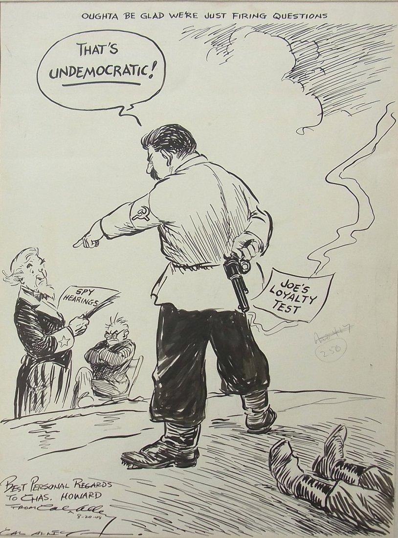 15: Huac Truman Stalin Spy Hearings Cal Alley Inscribed