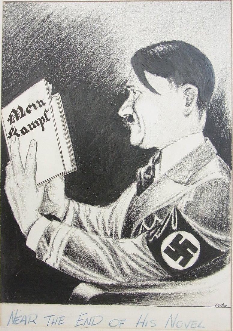 40: William O'Brien Depiction Circa 1945 Hitler Nearing
