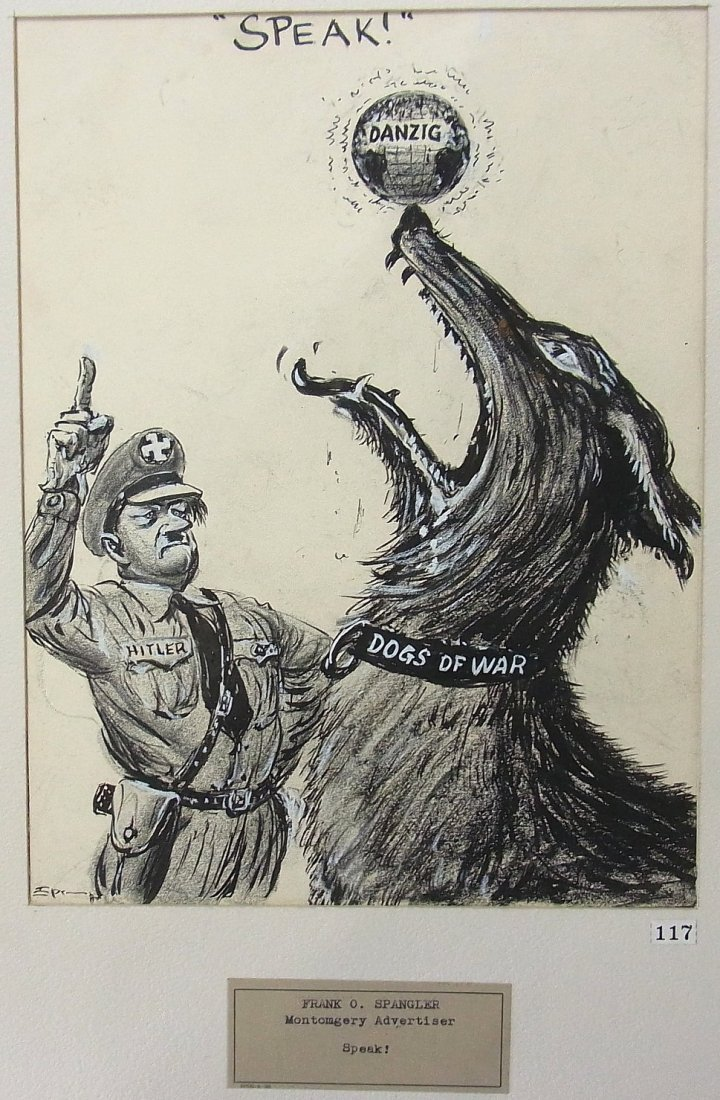 34: Frank Spangler Sr. Montgomery Alabama Hitler Dogs o