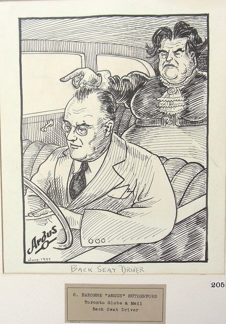 C. Baronne Argus or Angus Rutherford 1937 Toronto Globe