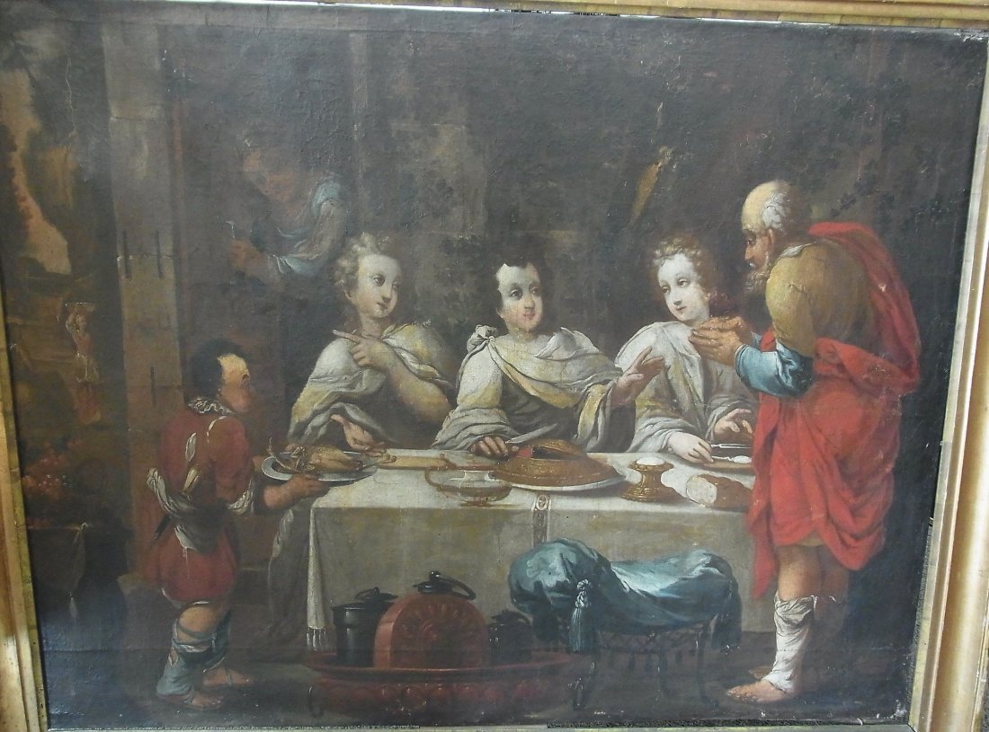 85: French School early 17th Century THE FEAST OF ABRAH