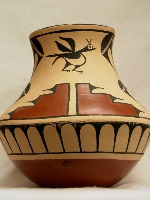 36: Signed Large R.G. Acoma Native American Pottery Oll