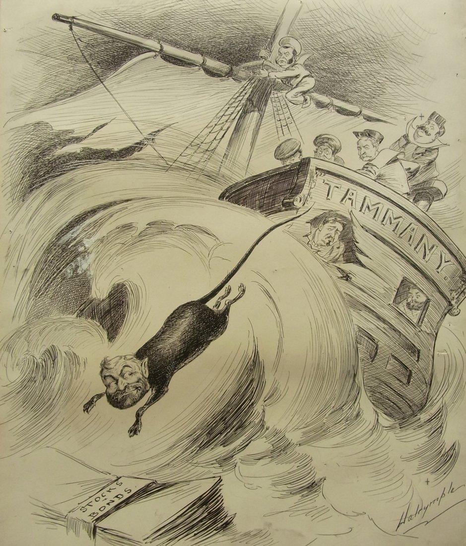 1: Louis Dalrymple The Good Ship Tammany Editorial Orig