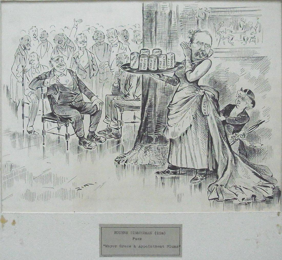 5:  ZIM Eugene Zimmerman PUCK 1885 Mayor Grace & Appoin